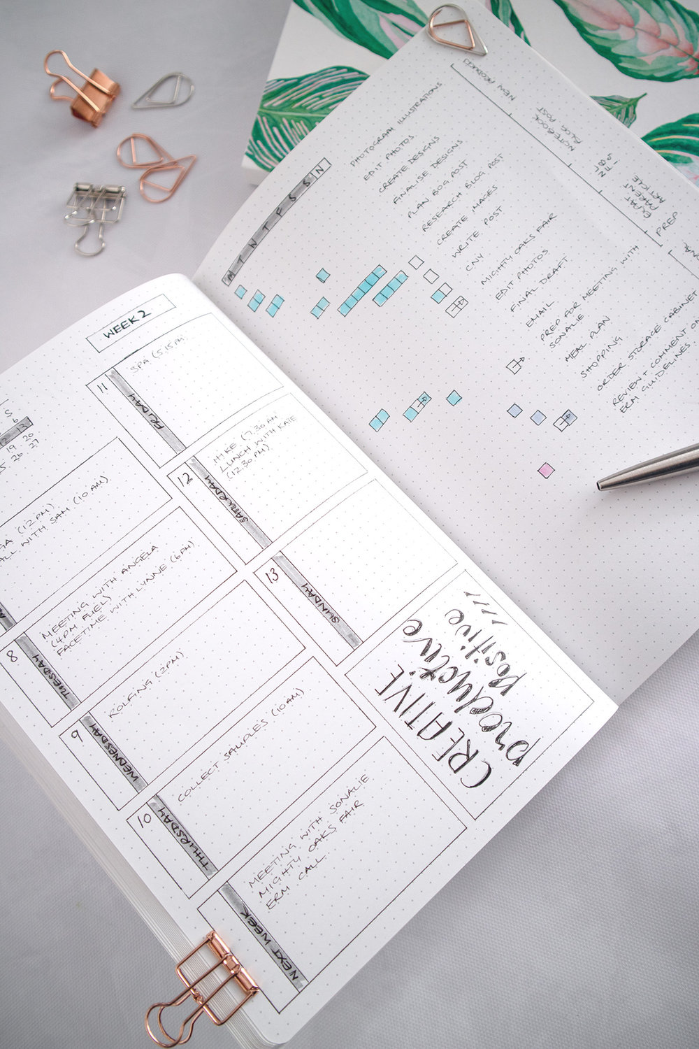 Paper-Roses | Notebooks | Weekly tasks and to-dos