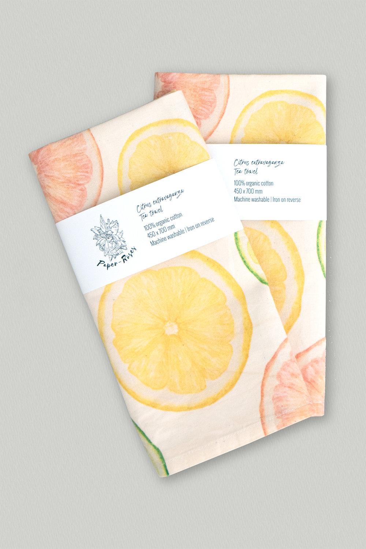Paper-Roses | Gifts & Goodies | Citrus tea towel