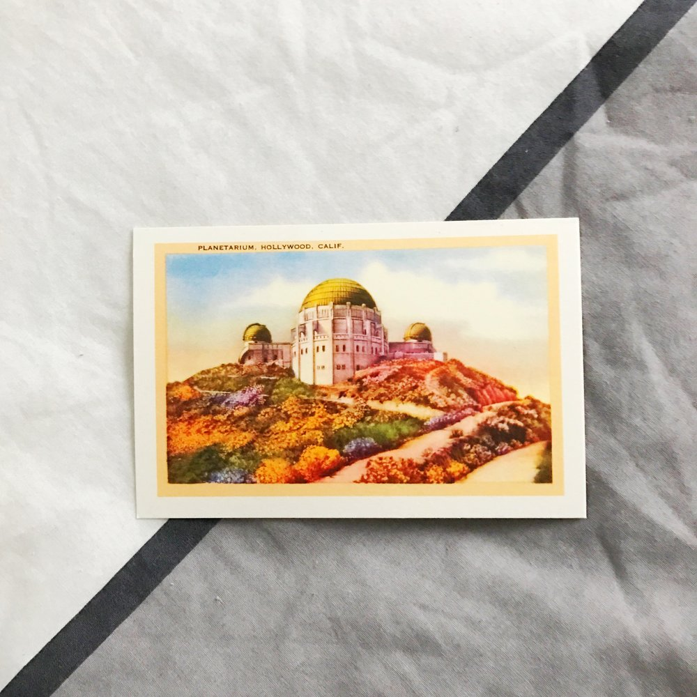 Hollywood Planetarium postcard from our first stay