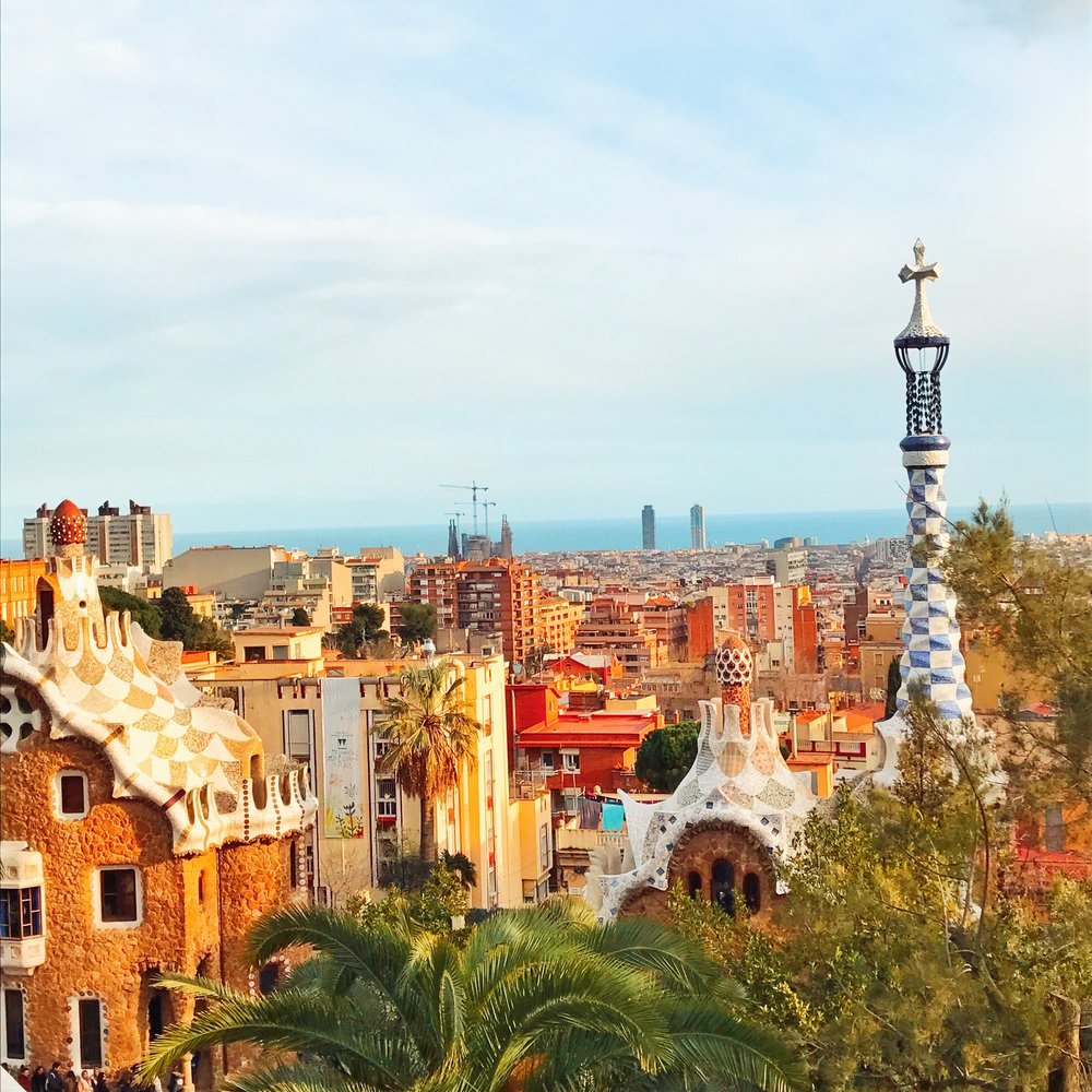 Views of the city from Park Güell