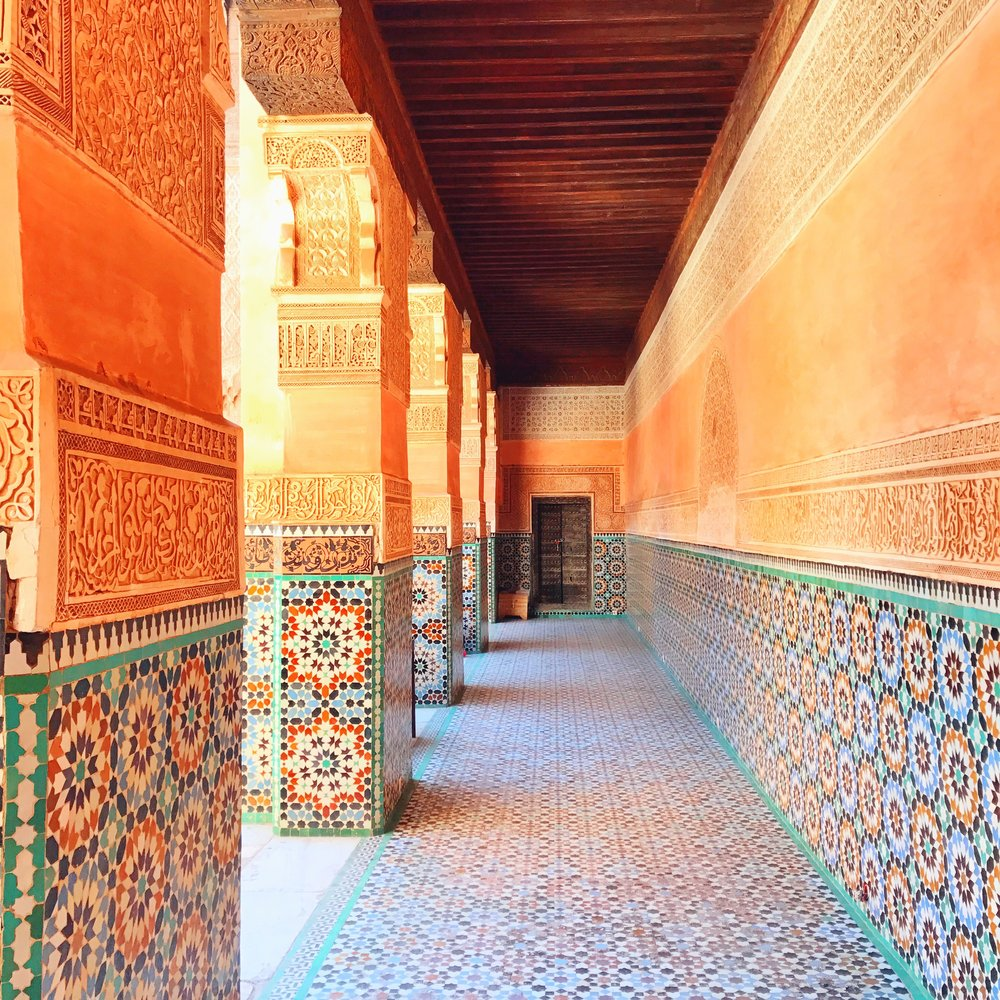 I couldn't get enough of the tiling in the courtyard