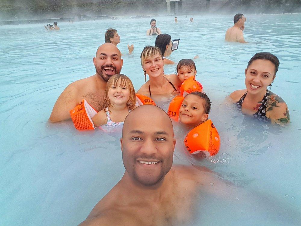 Group selfie in the Blue Lagoon