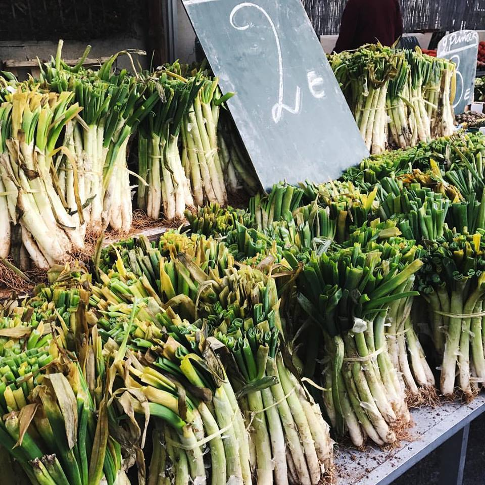 Calçots at the farmers market (a cousin to the leek)