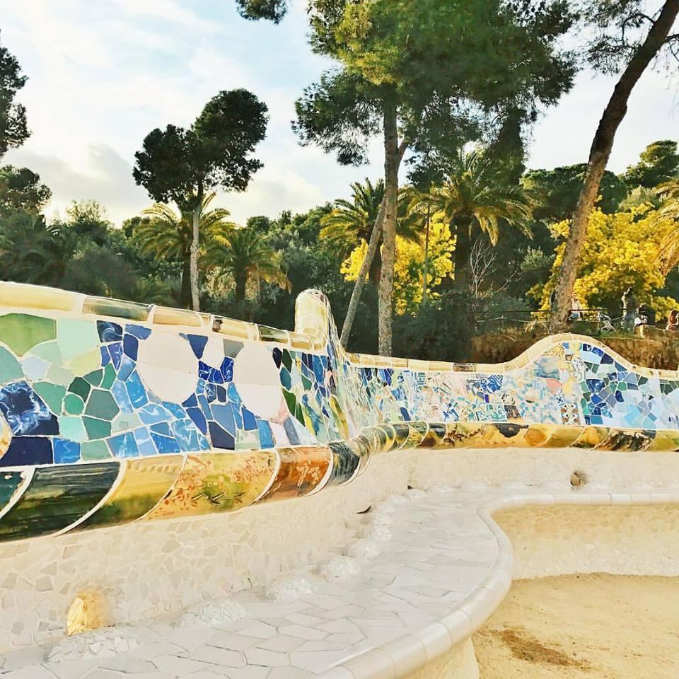 Gaudi's benches at Park Guell