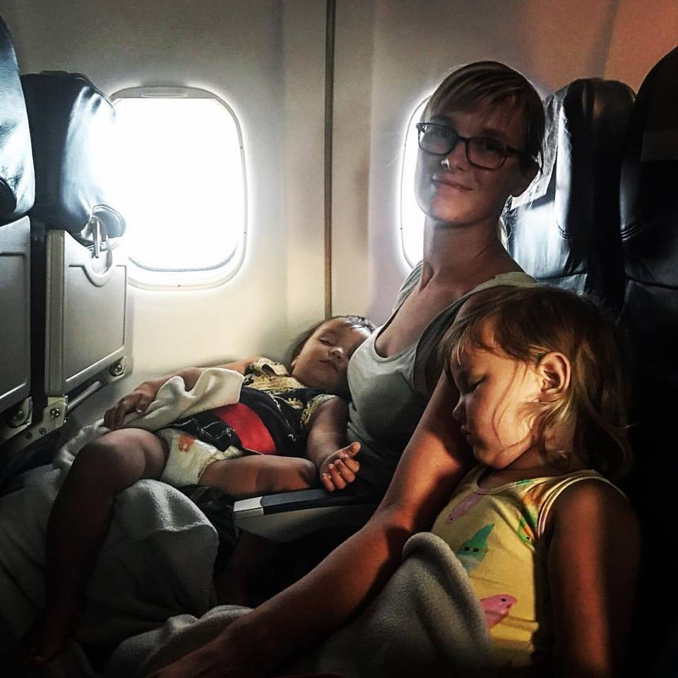 Tired kids make for much calmer flying
