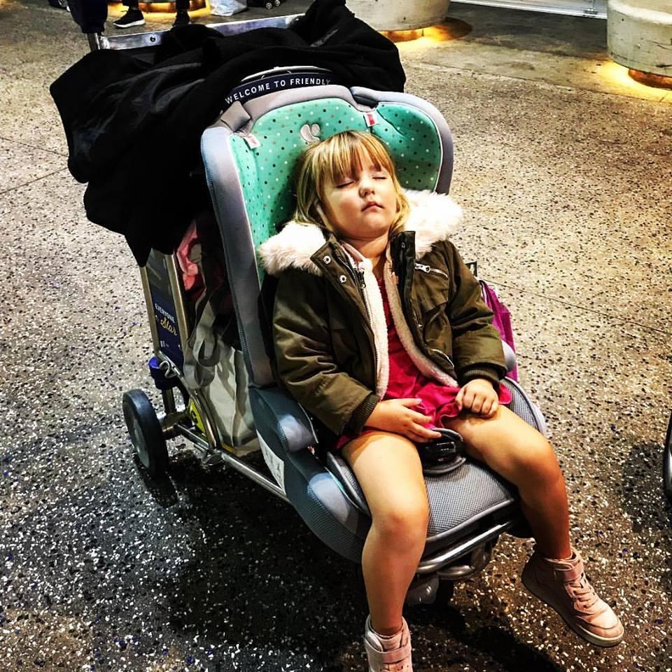 jet lagged toddler + broken stroller