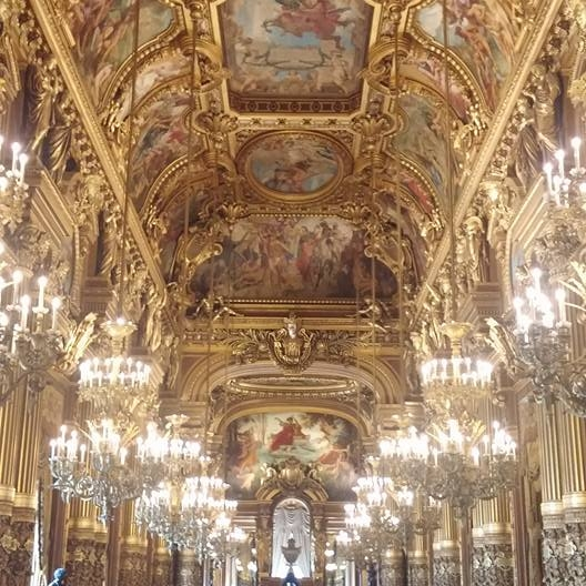 Grand Foyer in the Palais Garnier (opera house)