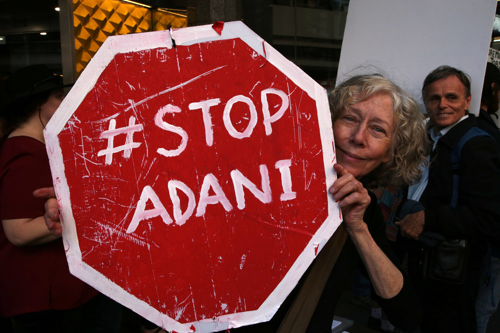 #StopAdani action against Commonwealth Bank investment, Brisbane.