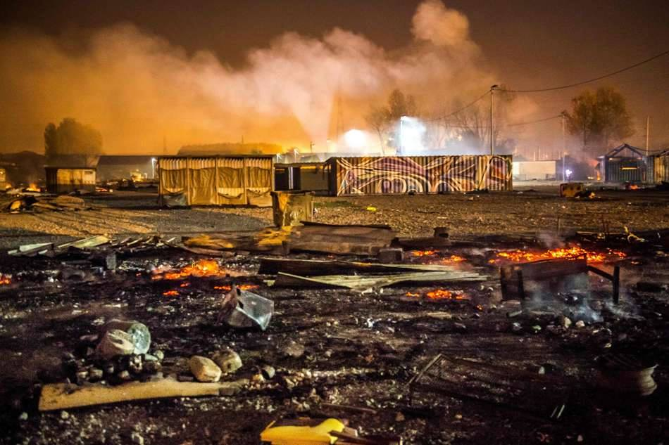 Dunkirk Refugee Camp Fire