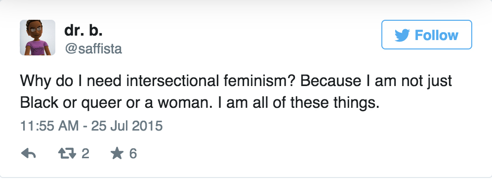 Intersectional feminism in one tweet