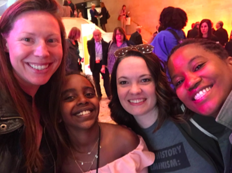 Team VERVE with Naomi Wadler at the WITW / NYC 2018