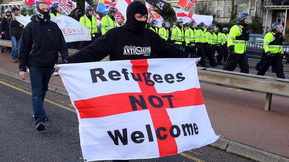 Anti Refugee Protest