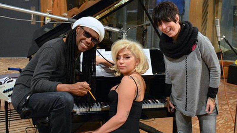 Warren with Lady Gaga
