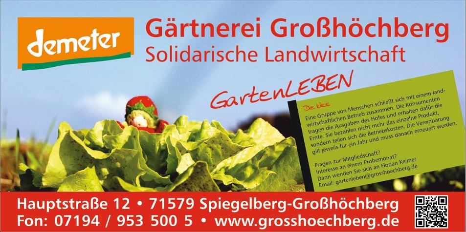Demeter Gärtnerei Großhöchberg