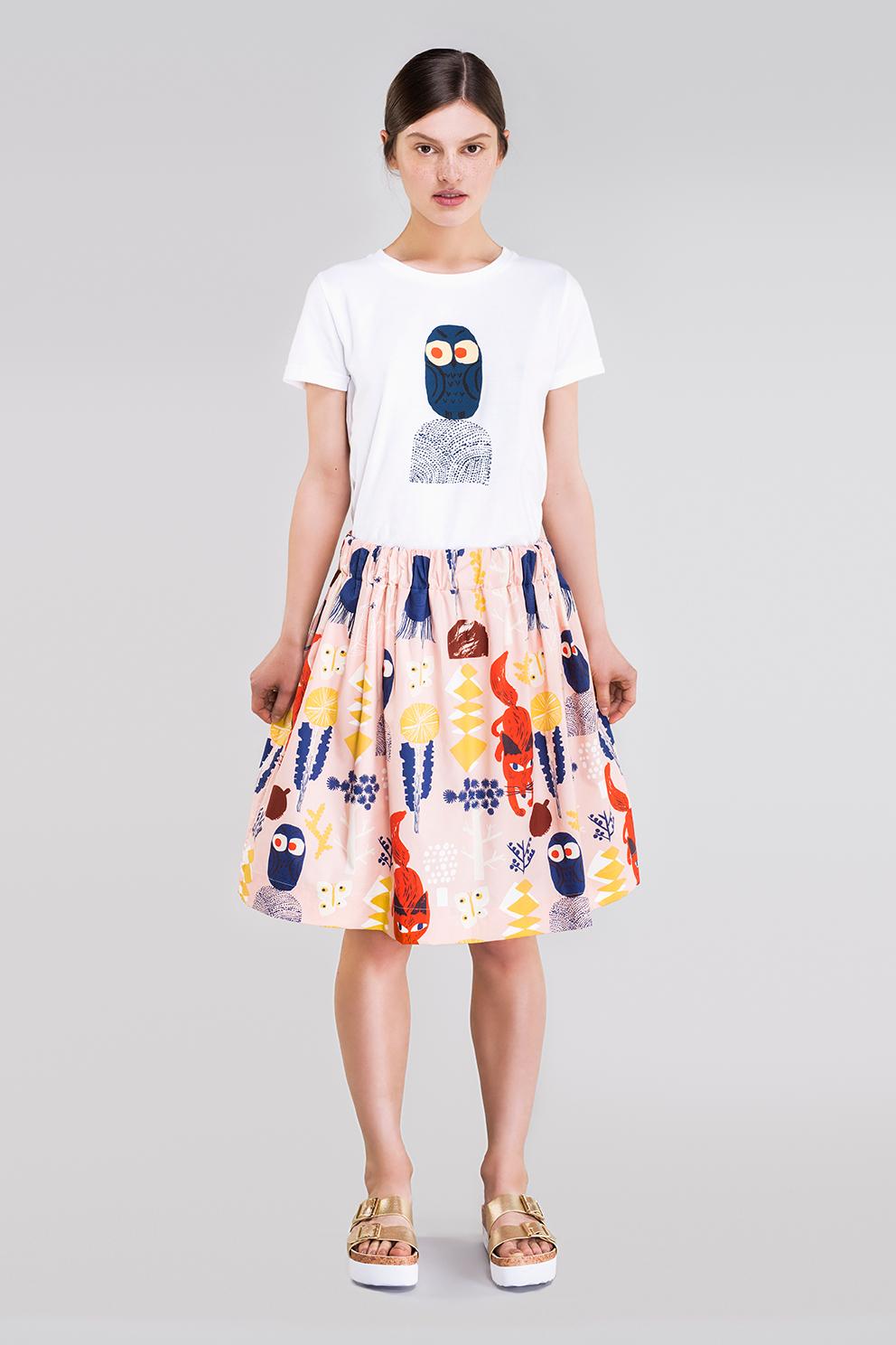 Ahoy poplin skirt