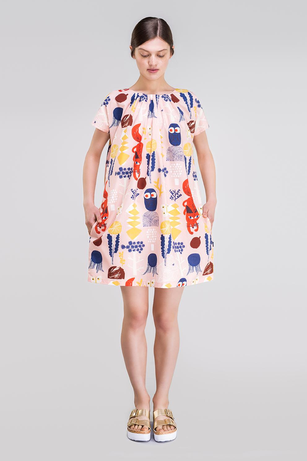 Ahoy poplin dress
