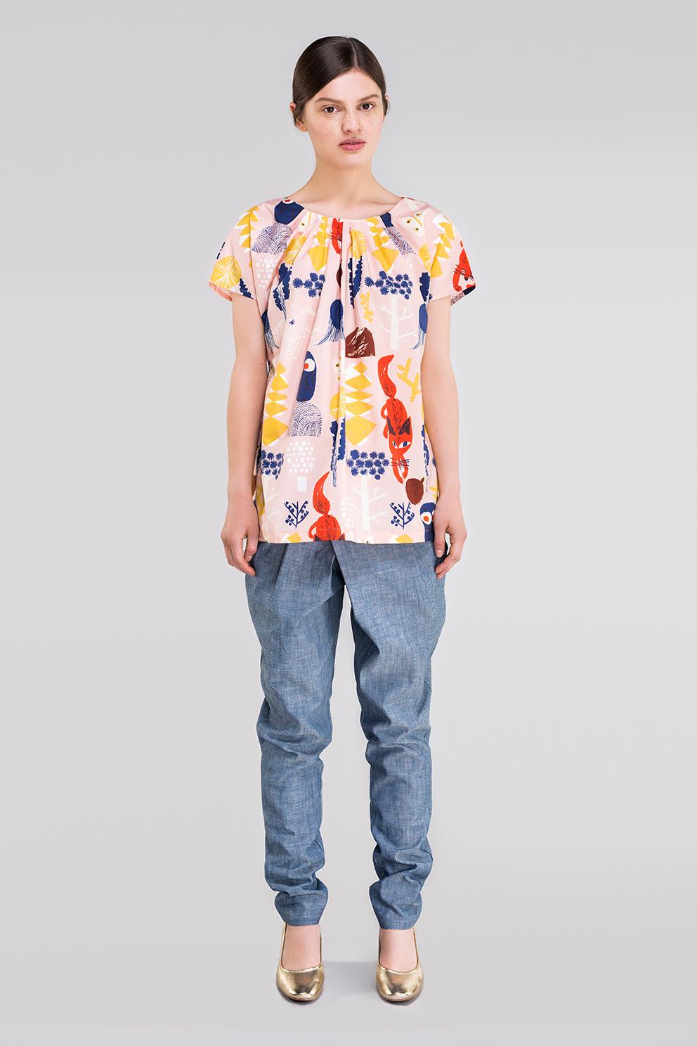 Ahoy poplin blouse