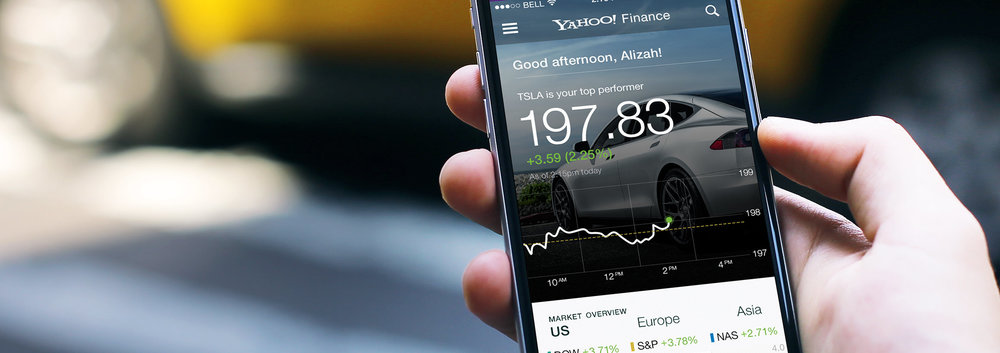 Yahoo! Financefor iPhone - product strategy, Redesign, ui/ux design