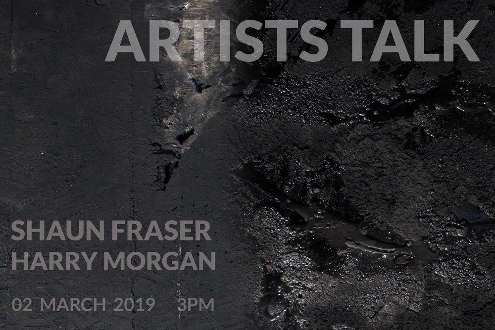 Artists Talk: Shaun Fraser & Harry Morgan at No 20 Arts