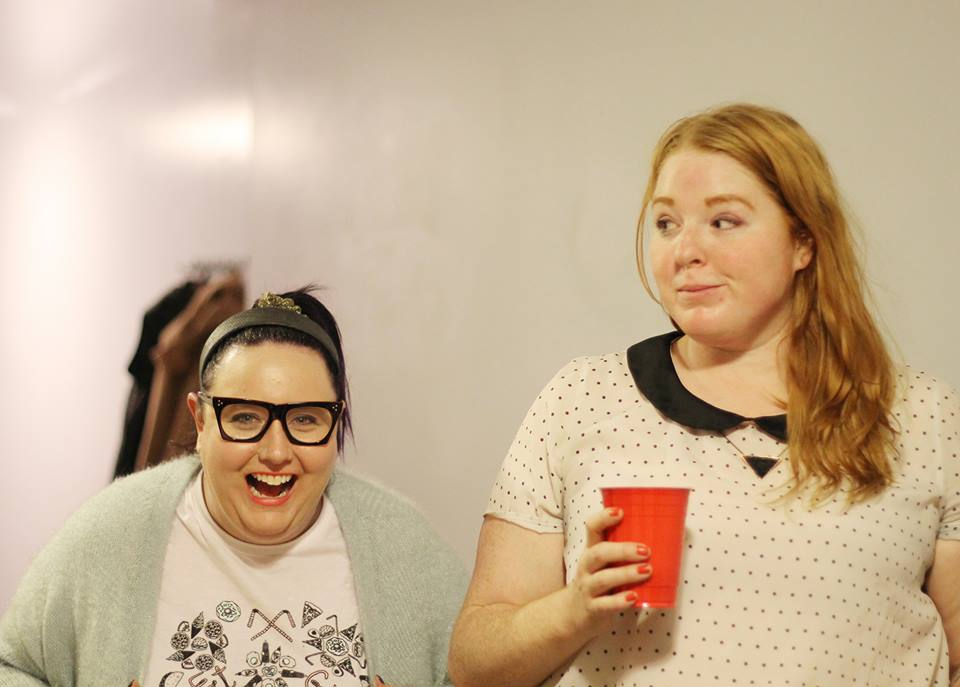 Proof that I'm never not laughing. Here at the Fat Girl Food Squad holiday party, laughing (about what - who knows).