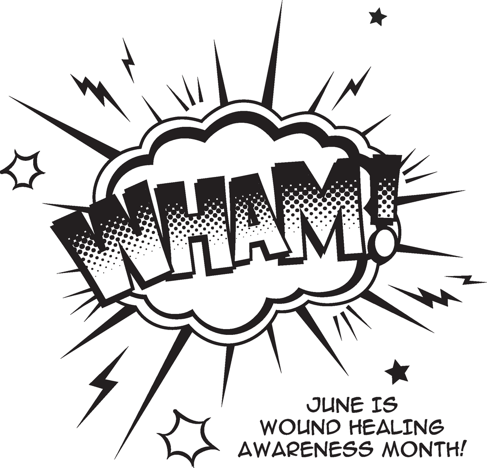 Download the black and white WHAM! logo.