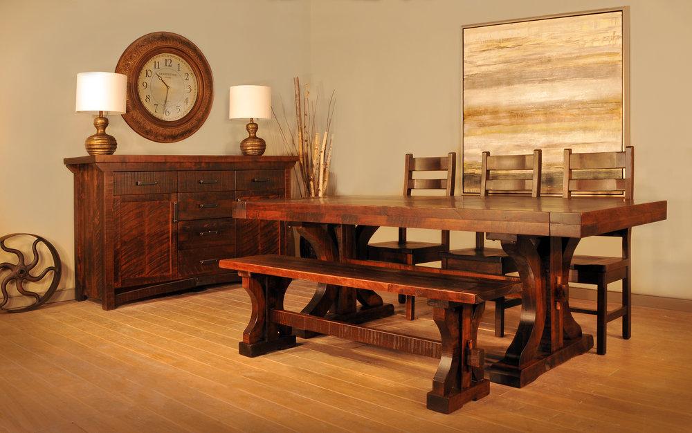 Rustic carlisle dining set