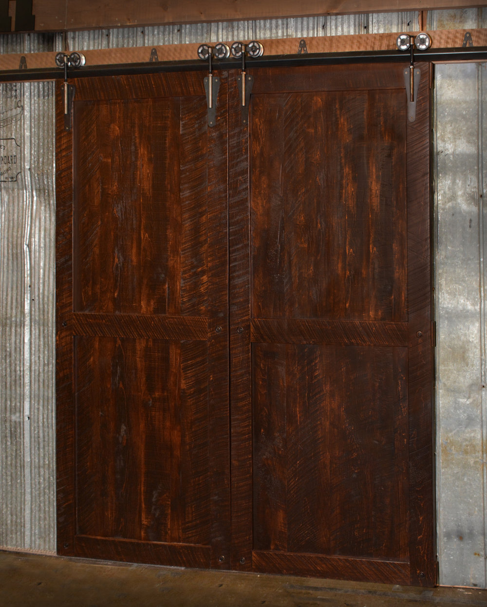 Timber Barndoor Double