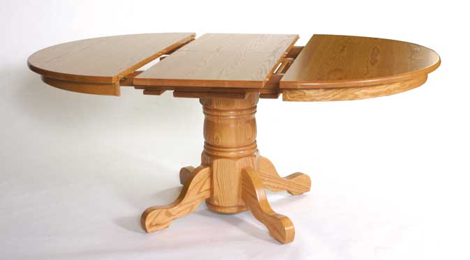 Folding leaf open table