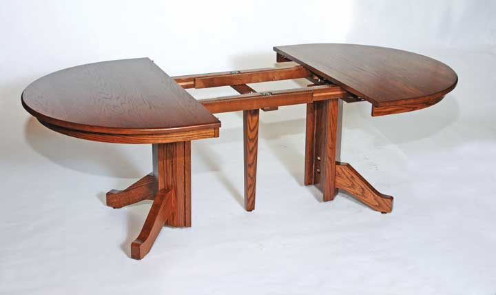 split single pedestal open table