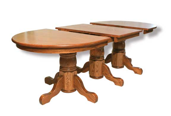 triple pedestal open table