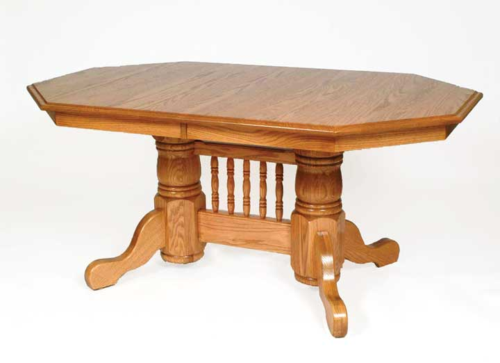 double pedestal 2 table