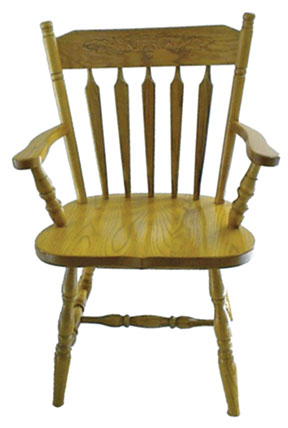 10c colonial arm chair