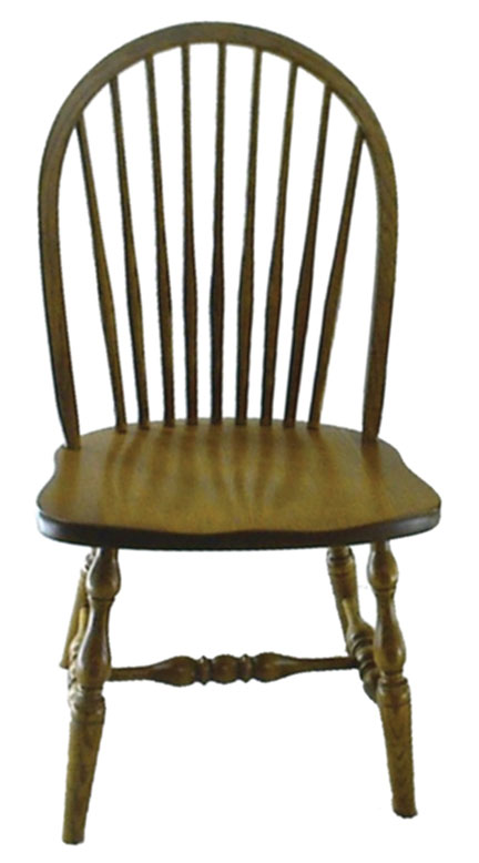 16c 9 spindle side chair
