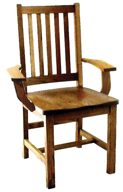 17c schoolhouse mission arm chair