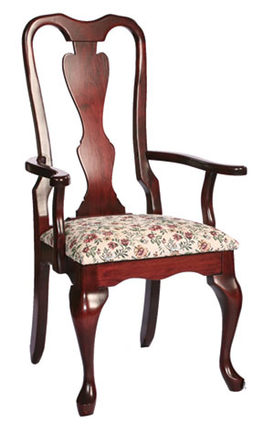 110c victorian queen anne arm chair