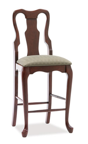 606 queen anne bar chair