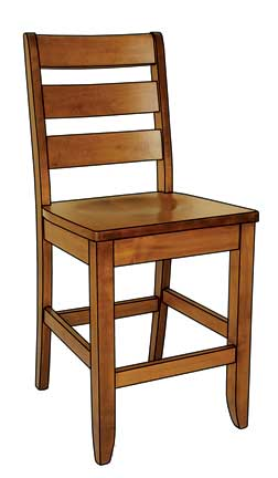 dutch ladder bar chair