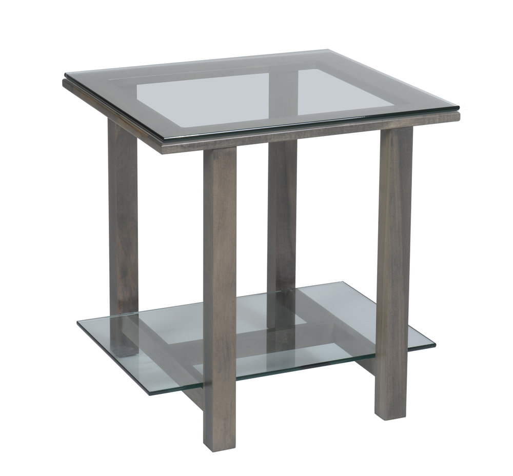 Hilton glass top end table