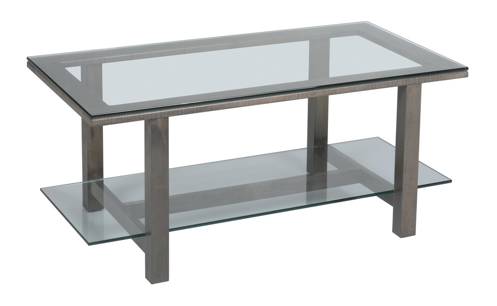 hilton glass coffee table