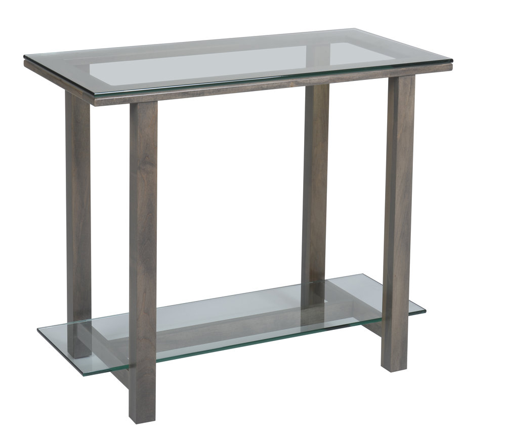 hilton glass sofa table