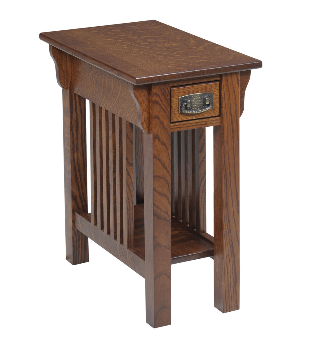 lexington mission chairside table