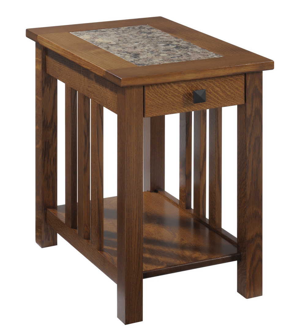 mission chairside table