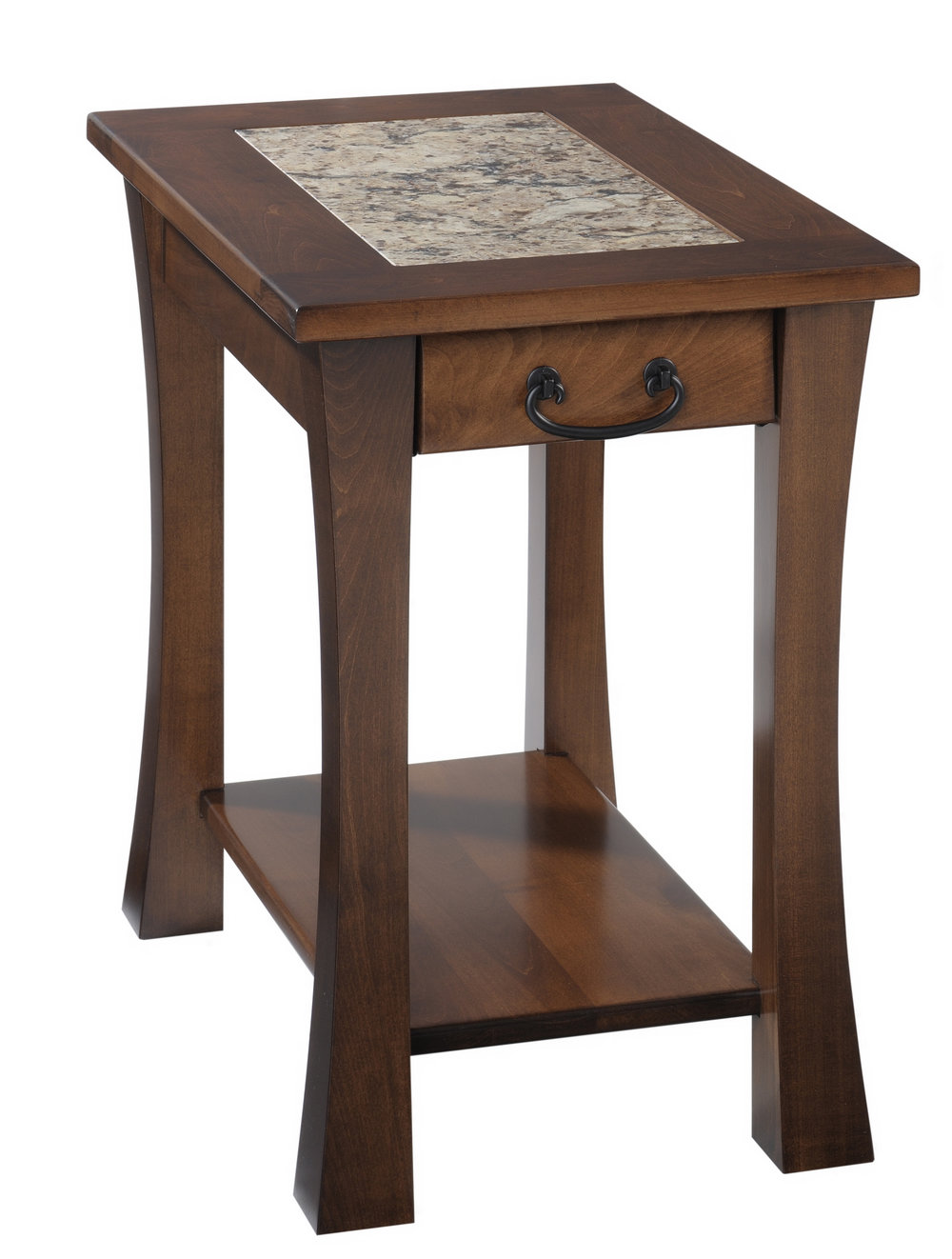 Woodbury chairside table