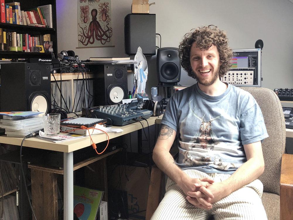 Producer Willem van Rij in his studio