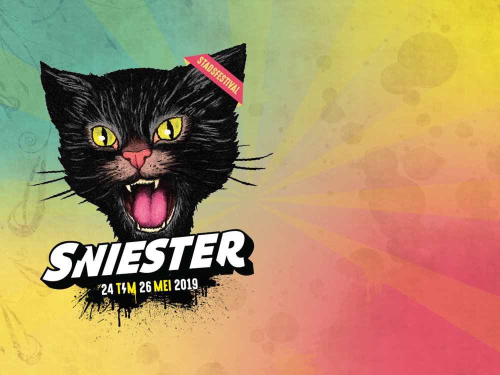 Design Made by  Patrick van Honing  Sniester means firework in Dutch dialect. The cat is inspired by a old american firework company calledv Black Cat