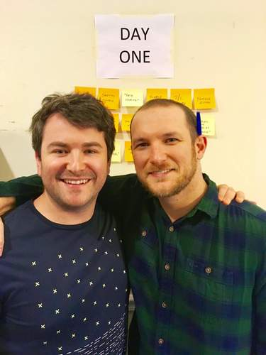 Drew Gasparini and his writing partner Alex Brightman