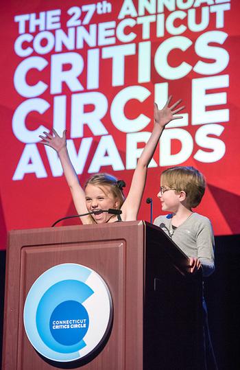 Presenters Ella and Riley Briggs.