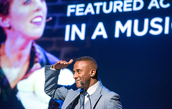 Teren Carter, last year's featured actor in a musical recipient, was a presenter this year.