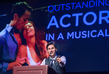 """Zach Schanne received outstanding actor in a musical award for his performance in """"West Side Story"""" at Summer Theatre of New Canaan."""