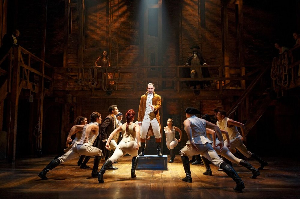 "From the current Broadway cast of ""Hamilton"" Photo by Joan Marcus."